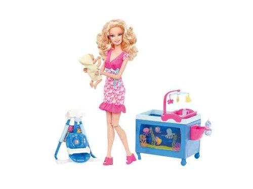 Barbie - V6934 - Poupée Mannequin - Puericultrice