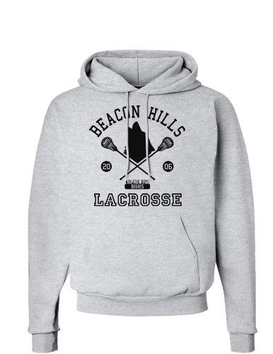 Beacon Hills Lacrosse Wolf Hoodie Sweatshirt - Ash Gray - Medium