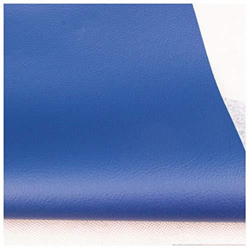 LILAMP Tejido de Imitación de Cuero Azul Cielo Tapicería de Cuero Sintético Material Texturizado Material Resistente Ignífugo, Forro de Automóvil - 1 Metro 100 Cm X 138 Cm(Size:1.38x2m)