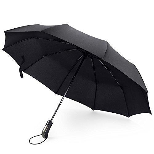 Roebury Regenschirm (Windsicher & Sturmfest) - Mini Outdoor Taschenschirm Reise Schirm mit Auf-Zu Automatik und 105cm Durchmesser