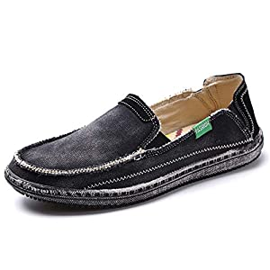 Men's Canvas Shoes Slip on Deck Shoes Boat Shoe