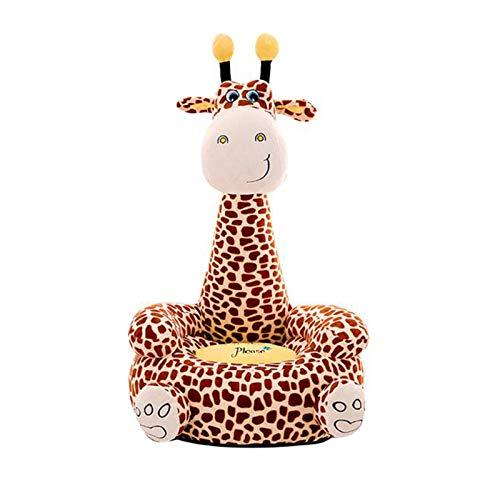 DTLEO Giraffen-Baby-Sofa, Super Nette Plüsch-Spielzeug Baby Sitzstuhl Learning Sitz Stuhl für Baby Schlafzimmer Schlafsaal,Braun