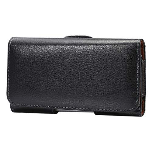 Pronunciado -5.2 pulgadas Litchi textura vertical del tirón Thwartwise caja del cuero genuino bolso de la cintura / giratorio con Volver férula for iPhone y Galaxy X S7 y S6 y S6 Edge y S5, Sony Xperi
