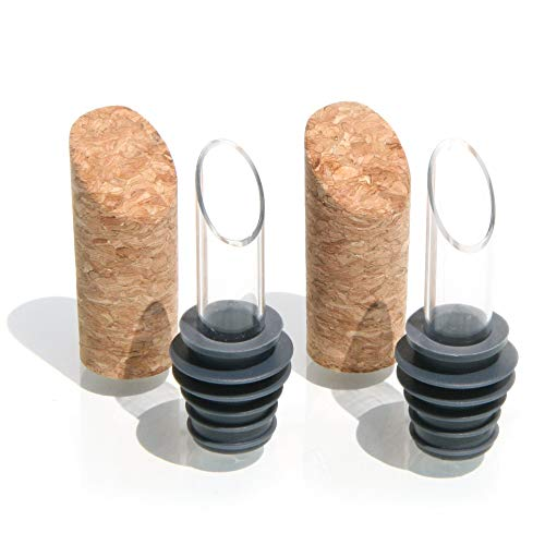 Soireehome Pourist, Gourmet Pourer Natural Cork, Drip-Free Smooth Pouring, 750 ml Bottle