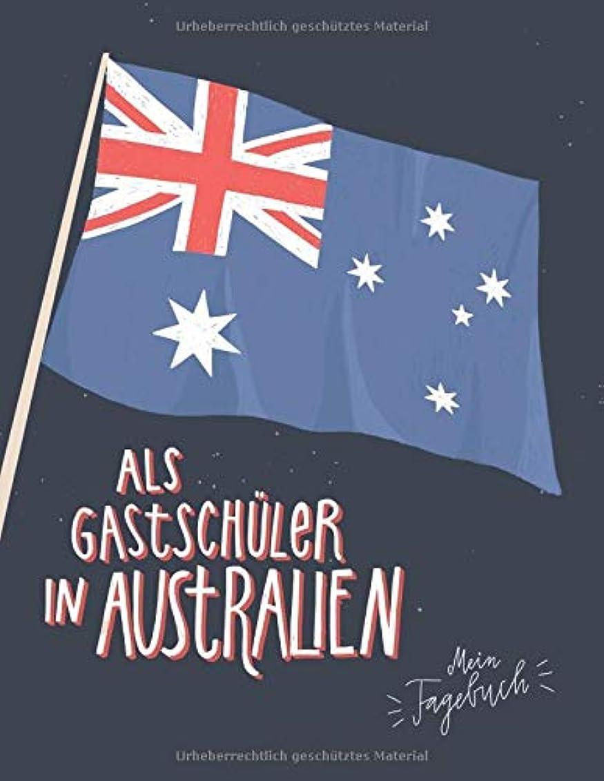 バイソン一部放射能Als Gastschueler in Australien, mein Tagebuch: Gepunktetes Journal fuer die Planung und die Zeit an einer australischen Schule, 160 Seiten zum Selbstgestalten, Softcover Flagge Australien