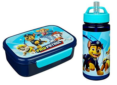 Paw Patrol Sandwich-Box und Trinkflasche blau