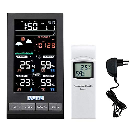 VLIKE Estación meteorológica 1PCS sensores Estación