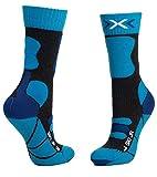 X-Socks Calcetines de esquí unisex para niños 4.0., Unisex niños, Calcetines., XS-SS00W19J-G285-35/38, gris oscuro/E, 35 - 38