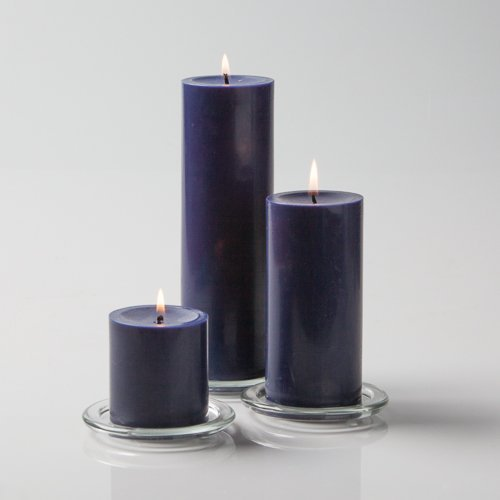 Richland Navy Blue Pillar Candles Set of 3