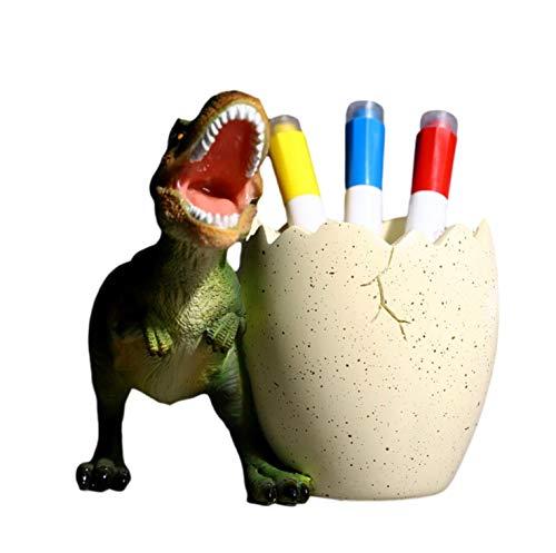[クイーンビー] 恐竜 ペンスタンド ペン 立て かっこいい 男の子 卓上 収納 ケース インテリア デスク アクセサリー 文具 文房具 鉛筆 事務用品 プレゼント (グリーン)