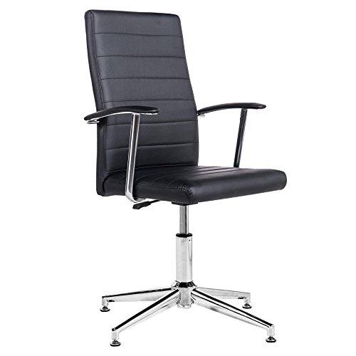 Silla de escritorio para despacho modelo Look con base fija...