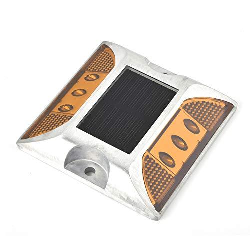 Pangdingk LED-Bodenleuchten, 6 x 5 mm Superhelle, beschlagfreie LED-wasserdichte Einfahrtleuchten Solarbetriebenes Bodenlicht für den Garten im Freien