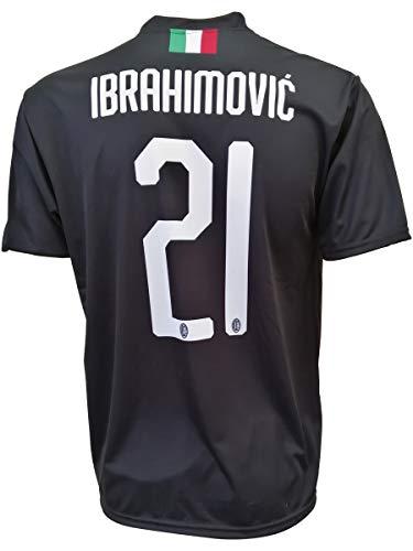 L.C. SPORT Terza Maglia Milan Zlatan Ibrahimovic 21 Replica Autorizzata 2019-2020 Bambino (Taglie-Anni 2 4 6 8 10 12) Adulto (S M L XL) (4/5 Anni)