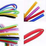 Zmaoyun-PVC Mangueras de conducto ID de tubo de silicona flexible colorido 2mm x 4mm SOBREDOSIS Conector de tubería suave de la manguera de goma no tóxica de grado alimenticio, Resistente al desgaste
