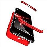 Ququcheng Xiaomi Pocophone F1 Hülle,Xiaomi Pocophone F1 Schutzhülle[Mit Bildschirmschutz] 3 in 1 Ultra dünn Hard Shell Hülle 360 Grad Schutz Tasche Etui Handyhülle Cover für Xiaomi Pocophone F1-Rot