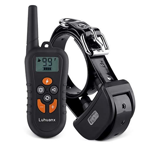 Luhuanx Dog Training Collar with Remote Reflective Collar,Dog Collars Strap 1450ft Dog Shock Collar Beep Vibration Shock Modes for Small Medium Large Dogs