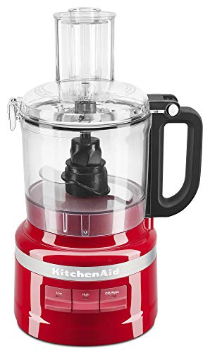 KitchenAid KFP0718ER 7-Cup Food Processor Chop, Puree, Shred and Slice - Empire Red (Renewed)