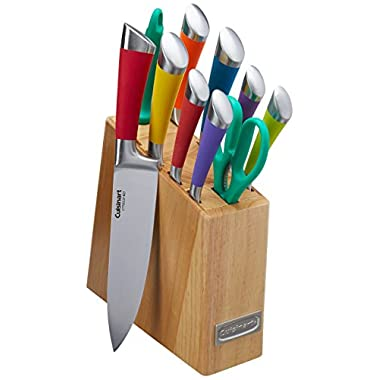 Cuisinart C77SS-11P 11-Piece Arista Collection Cutlery Knife Block Set, Stainless Steel