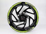 BIKE-label 710114-VA Set di adesivi per cerchione verde bianco strisce compatibili per Kawasaki Z900