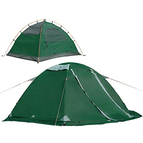 Tents Camping 1-2 Person Portable Double Layer Waterproof Outdoor For Camping Hiking Mountaineering Bicycle Camping 0630 (Color : Green)
