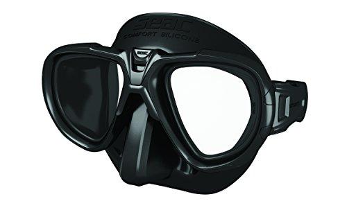 Seac Fox Tauchmaske Mit Maskenbox, schwarz, One Size