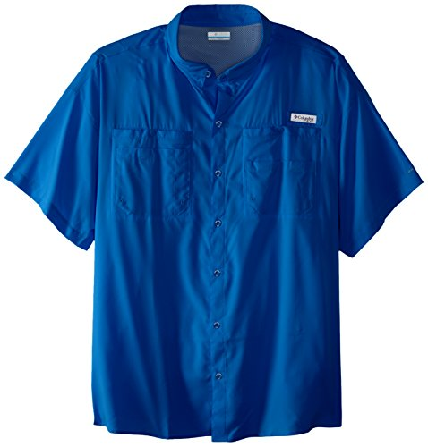 Columbia Sportswear Men's Big Big and Tall Tamiami II Short Sleeve Shirt, 3X, Marine Blue