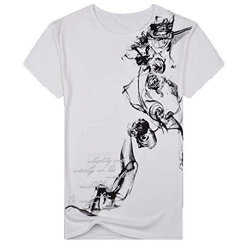 waotier Camiseta De Manga Corta De Hombre Top De Manga Corta con Estampado Chino para Hombre De...