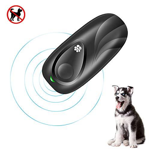 MeijieM Ultraschall-Rindenkontrollgerät für Hunde, einstellbare Rindenkontrollfrequenz, geschulte abschreckende Rindenkontrolle mit LED-Anzeige für Rindenkontrolle, Hundeabwehrmittel, Hundetrainer