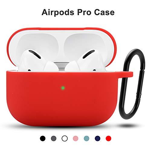 Funda AirPods Pro,Funda Protectora de Silicona Teyomi para Airpods Pro 2019 con Llavero...