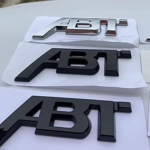 AUTOTUO Adecuado para Audi A4 A6L Volkswagen Modificado ABT estándar Coche Golf 7 Sagitar Polo Magotan Pegatina Trasera Pegatina 8 cm Plateado Claro 11,5 cm (subnegro)