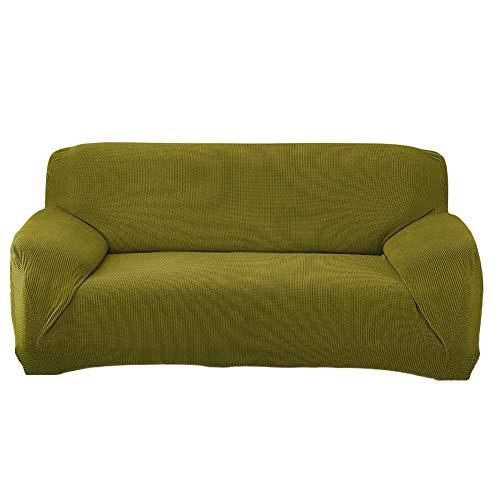 Funda Sofá Elasticas Antiarañazos de Terciopelo,Universal Funda Cubre Sofas Ajustables con Cuerda de Fijación Color Sólido Protector de Sofá o Sillón Fundas Decorativas para Sofá J 3 Plaza