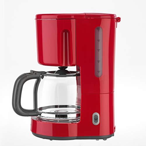efbe-Schott SC KA 1080.1 ROT designerski ekspres do kawy 1,25 litra ze szklanym dzbankiem, metal, szkło, tworzywo sztuczne, 1,25 l