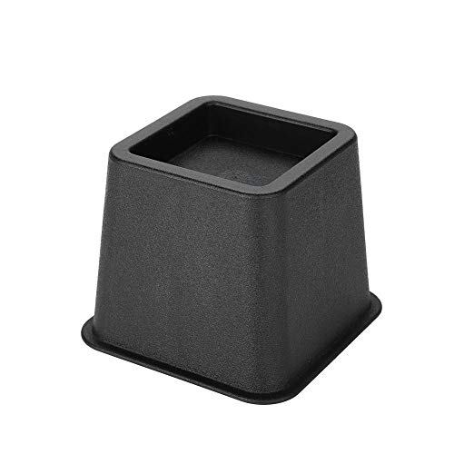 Verstellbare Betterhöhung, 4 Stück, robuste Betterhöhungen, breite Füße mit sicherer Aussparung für Sofa-Stühle, 18,8 x 8,9 cm