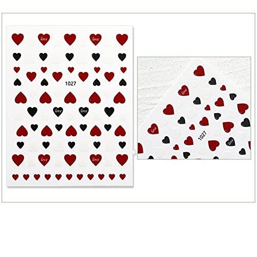 YSTSPYH Etiqueta engomada del Clavo Dibujos Animados Smiley Nail Pegatinas Arco Iris Estrellas Letras Multicolor Bricolaje Accesorios Happy...