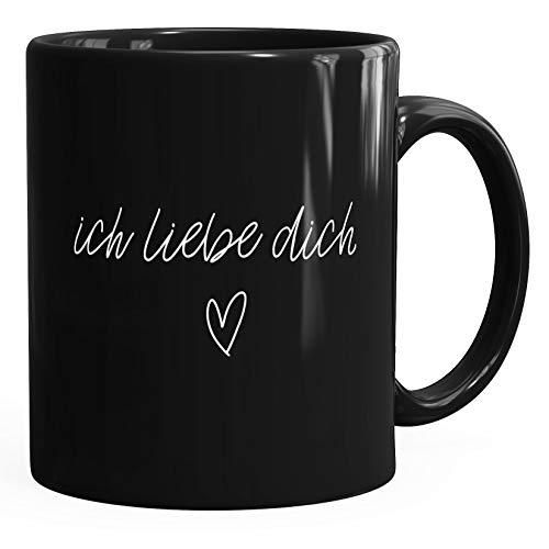 Kaffee-Tasse Ich liebe Dich I love You Liebe Love Geschenk Tasse MoonWorks® schwarz unisize