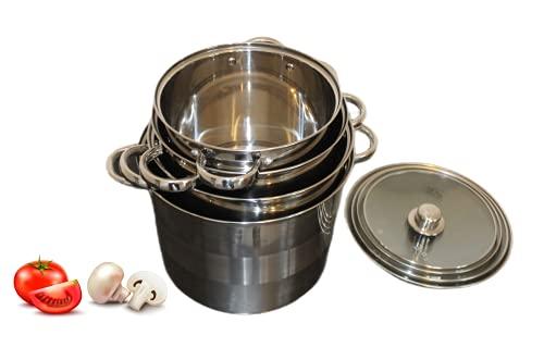 Royal Swiss batería de Cocina 8Piezas Profundo en Acero Inoxidable–Olla para Sopa