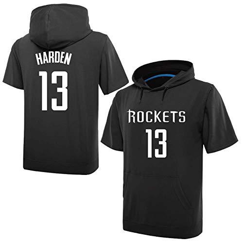 WENL Rockets Jersey, nee. 13 Harden Jersey Training Appearance trui met korte mouwen Dunne sportkap
