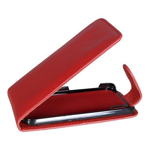 Mobilfunk Krause Flip Hülle Etui Handytasche Tasche Hülle für LG P970 Optimus Black (Rot)