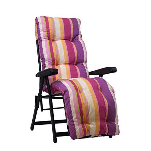 Coussin de rechange pour chaise longue avec repose-pieds Rembourrage à rayures multiples Rose