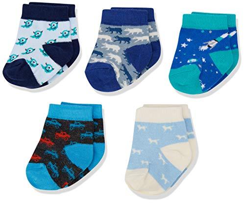Hatley 5 Pack Baby Crew Sock Tin Set Chaussettes, Bleu (Petits Dinosaures), Taille Unique Bébé Fille