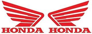 Adhesivos con el logo de Honda y sus alas, color rojo, 14 cm (2 unidades)