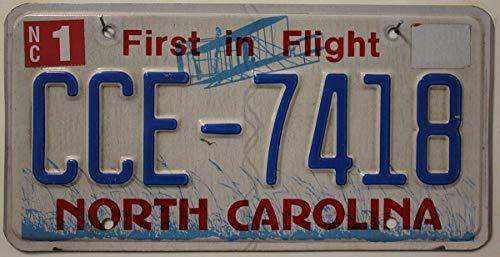 USA Nummernschild NORTH CAROLINA / Autokennzeichen US License Plate / KFZ Blechschild
