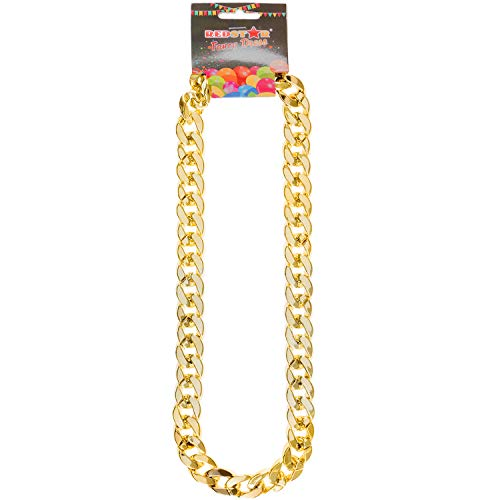 Gold Gangster Chain Chav Necklace Hip Hop Rapper Jewellery Pimp Fancy Dress Accessory Chunky Gold Chain Chavs