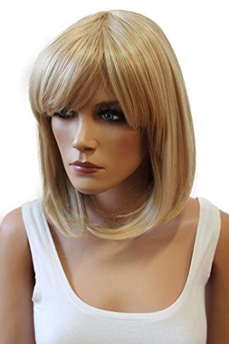 PRETTYSHOP Unisexe perruque Bob cheveux courts fibre synthétique résistant à la chaleur blond Mélange # 27/613 WB7