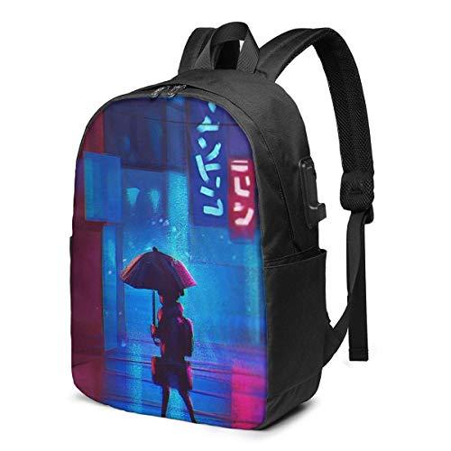 Hdadwy 17-Zoll-Rucksack mit USB Port Girl Eyond The Boundary Rucksack für Jede Reise