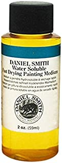 DANIEL SMITH Water Soluble Fast Drying Painting Medium, 2-Ounce Bottle