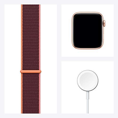 AppleWatch SE (GPS+ Cellular, 44mm) Aluminiumgehäuse Gold, Sport Loop Pflaume