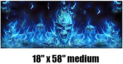 MeterMall Flaming Skull Rear Window Tint Graphic Decal Wrap Back Pickup Graphics 14746CM Auto Accessories