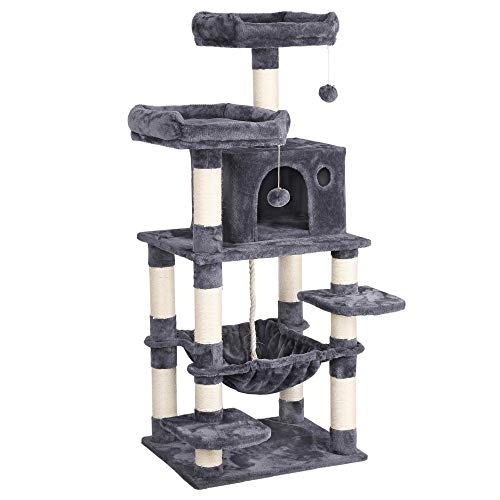 YAHEETECH 57.5 inches Luxurious Cat Tree Cat Tower with Cat Scraching Posts, Large Play House...