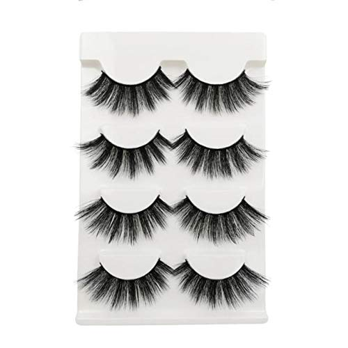 4pairs 3D Mink Lashes Natural False Eyelashes Dramatic Volume Fake Lashes Makeup Eyelash Extension Silk Eyelashes